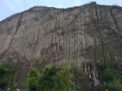 gigantic stone mountain